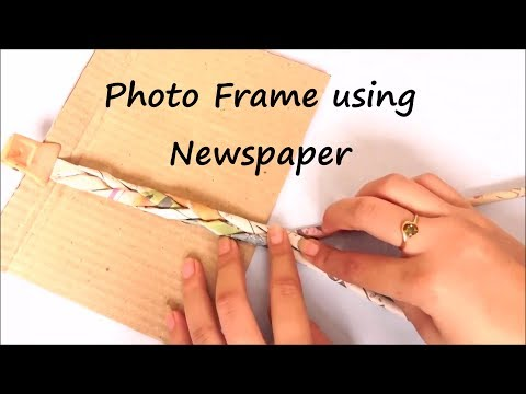 Newspaper PhotoFrame - DIY Easy Craft Ideas Best out of Waste Photo Frames at Home