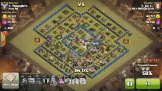 clash of clans đánh nhà 10 bằng các loại quân