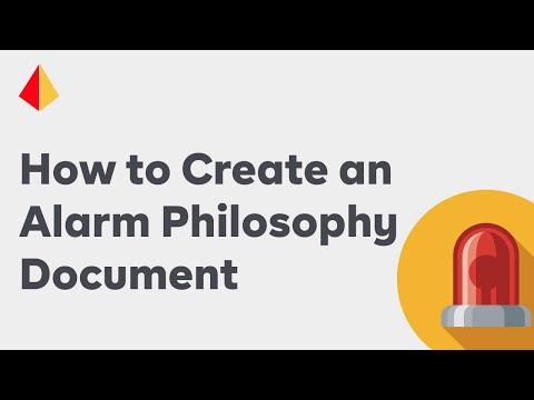 How to Create an Alarm Philosophy Document