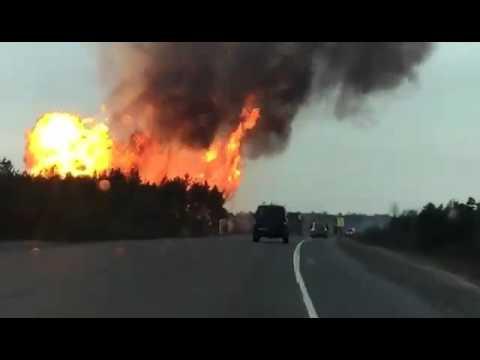 Пожар газопровода на трассе Сургут-Лянтор