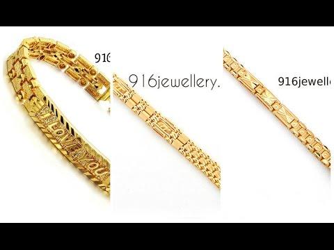 mens Gold bracelet designs