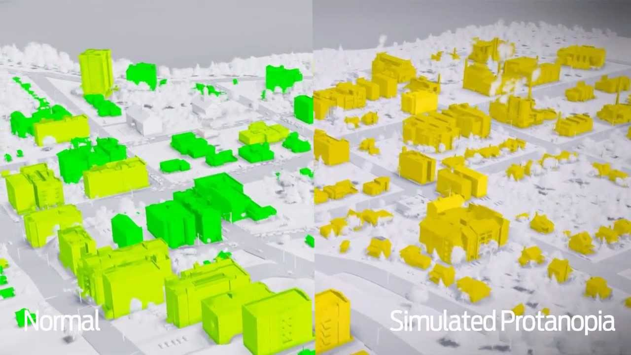 Why games need color blind modes see simcity with simulated color blindness