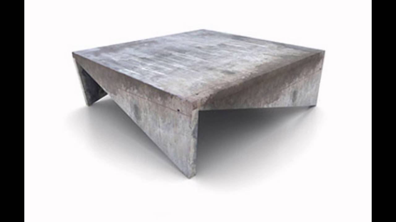 Concrete Coffee Tables - YouTube