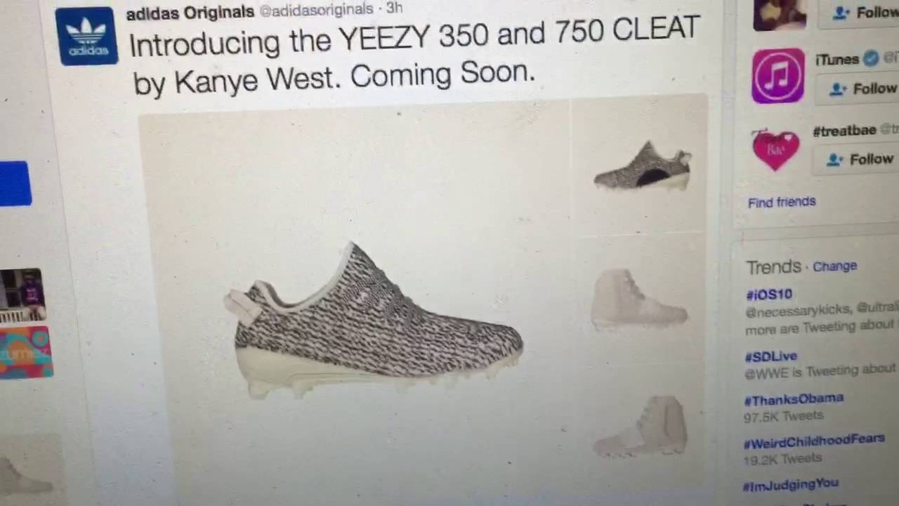 656e86687 ADIDAS YEEZY CLEATS! 350S AND 750S! - YouTube