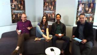 Alison Brie shows feet at Google Hangout
