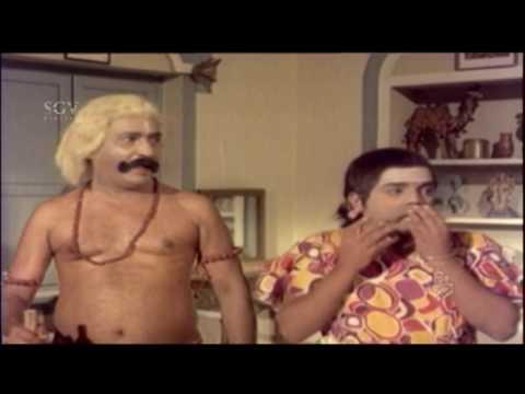 Dwarakish And Balakrishna Comedy Scene | Bhaktha Kumbara Kannada Movie | Dr. Rajkumar, Leelavathi