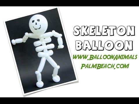 How To Make A Skeleton Balloon Balloon Animals Palm Beach Youtube