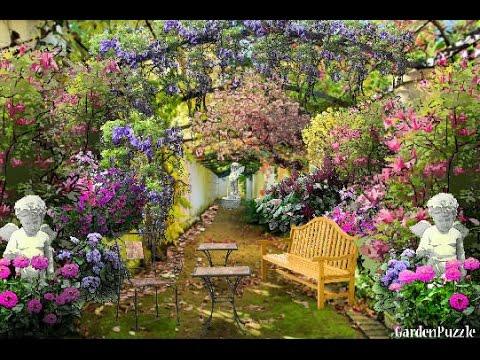 Italian Courtyard Garden Design - YouTube