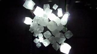 Origami Light Cloud : Interactive Motion Lighting