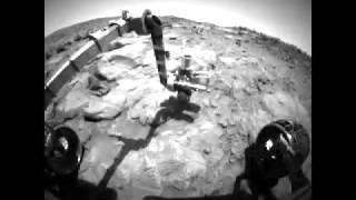 火星探査機スピリット地表探査(フロントカメラビュー)/Mars explorer spirit surface exploration (front camera view)