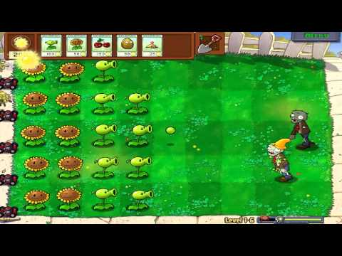 Let's Play - Plants Vs Zombies - With My Kids