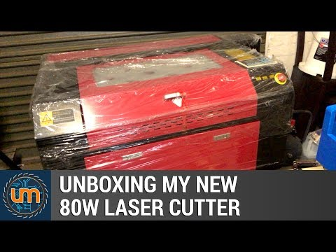 Unboxing my new 80W Laser Cutter