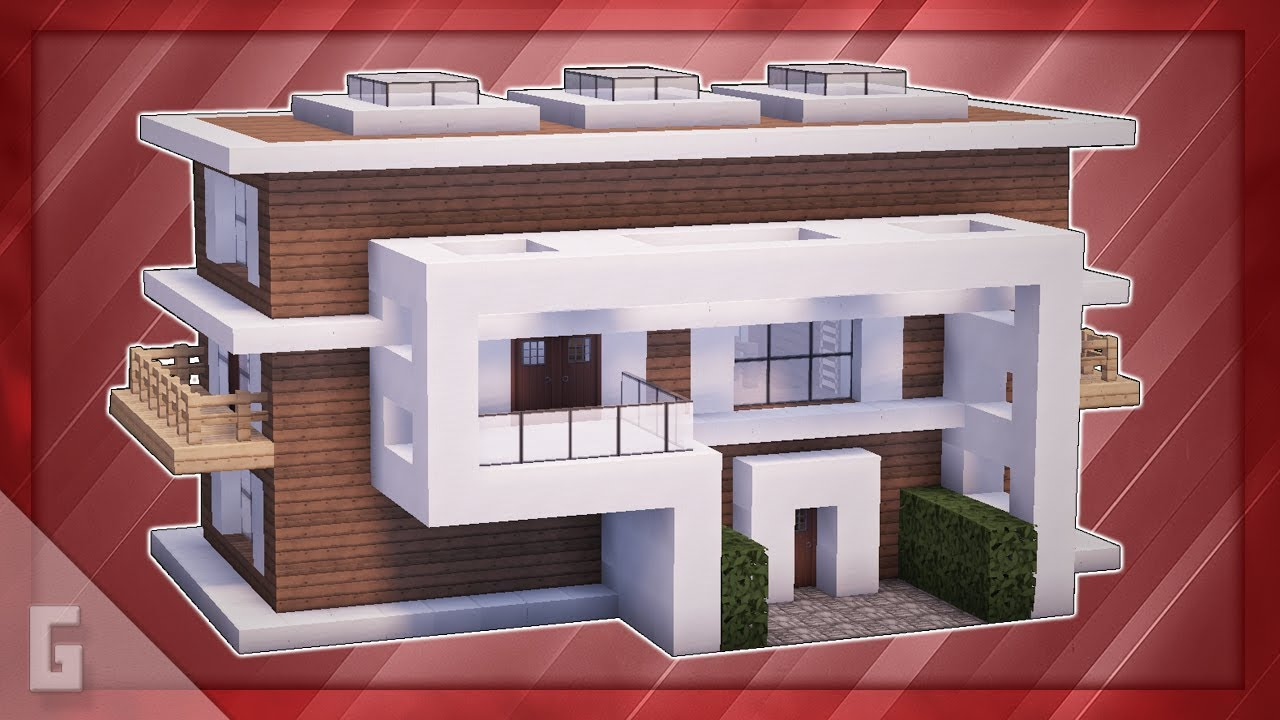 Minecraft How To Build A Stylish Modern House 41 Youtube