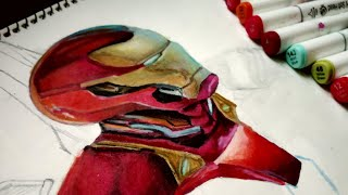 AVENGERS ENDGAME | AVENGERS ENDGAME DRAWING | IRON MAN DRAWING | IRON MAN FROM AVENGERS 4 |