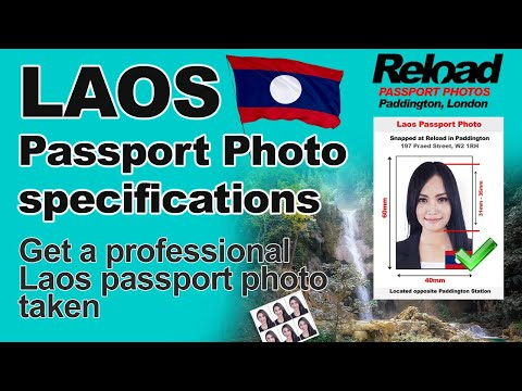 Laos Passport Photo and Visa Photo snapped in Paddington, London