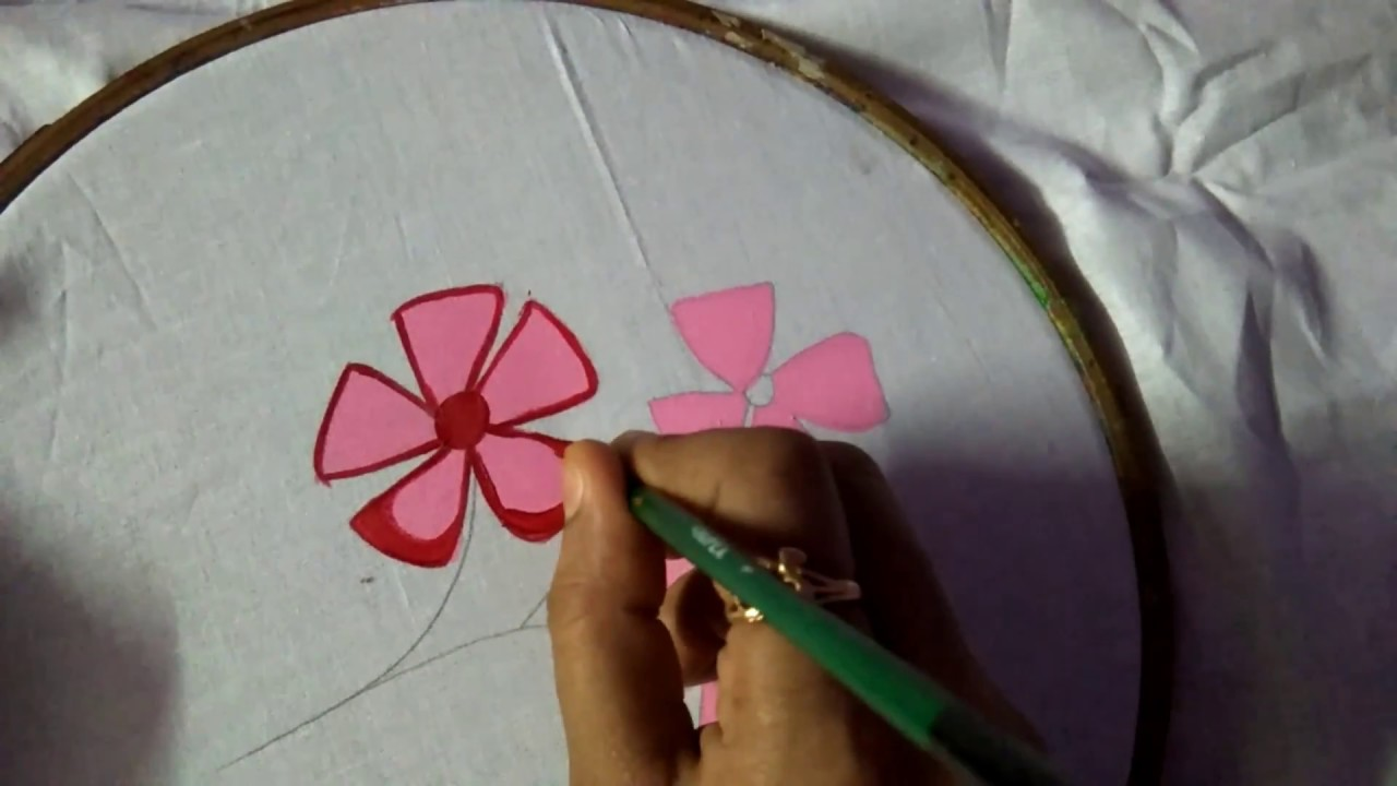 easy fabric painting for beginners/ fabric painting/easy ideas for fabric  painting