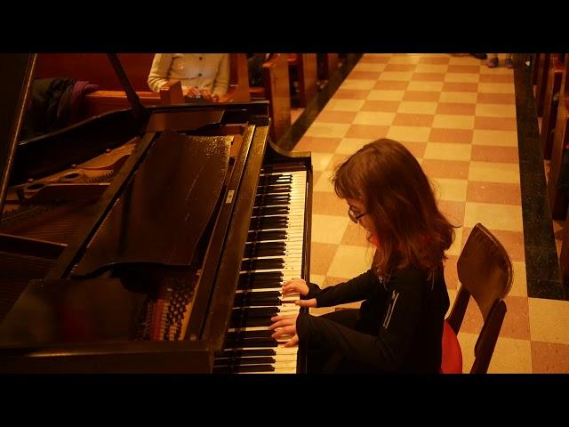 Hannah (9) performs Bugle Boys