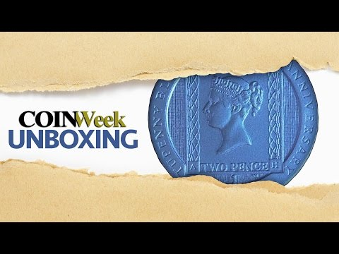 CoinWeek Unboxing: 2016 Ascension Island Two Pence Blue Crown Silver Coin - 4K