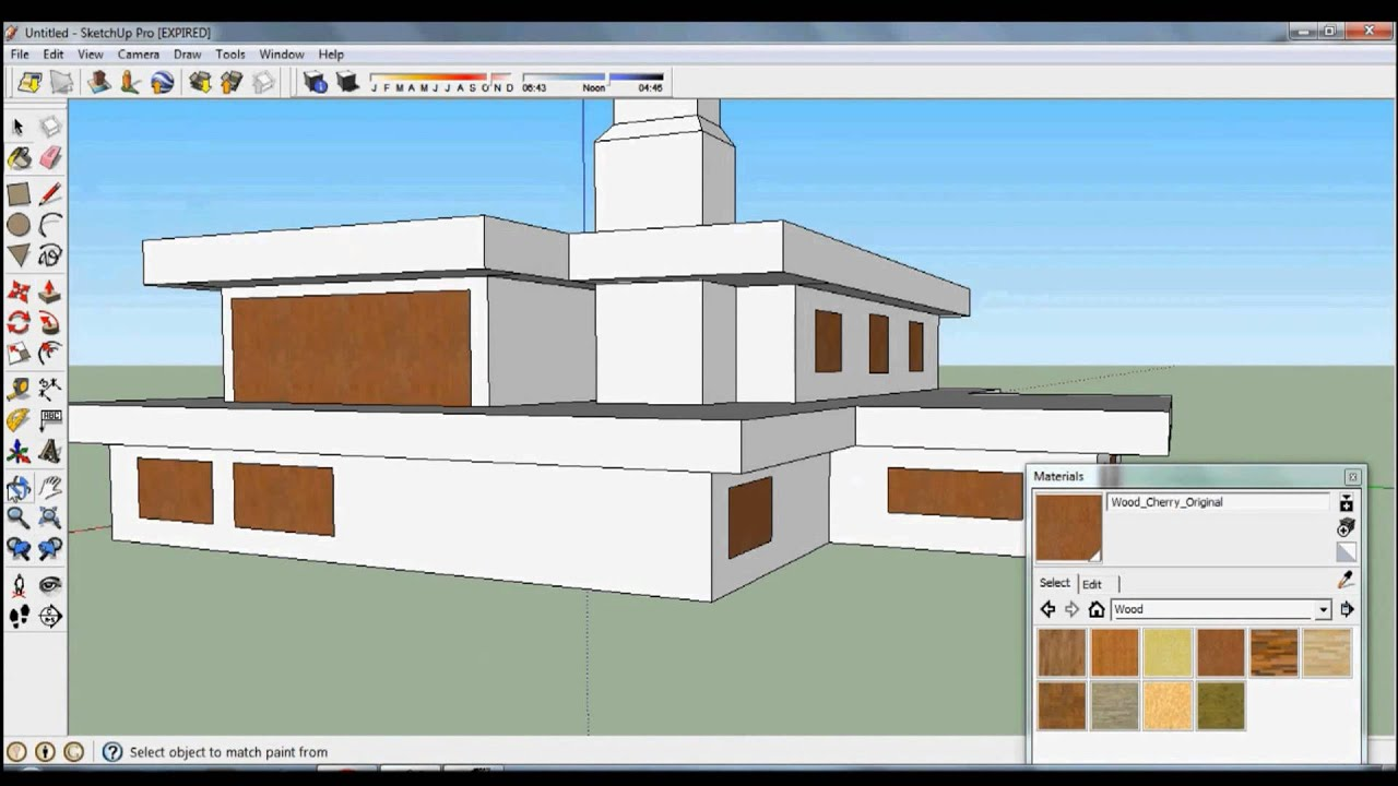 Casa moderna no google sketchup youtube for Modelos de casas sencillas para construir