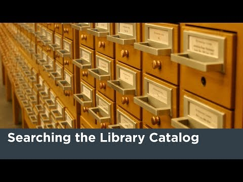 Searching The Library Catalog Tutorial