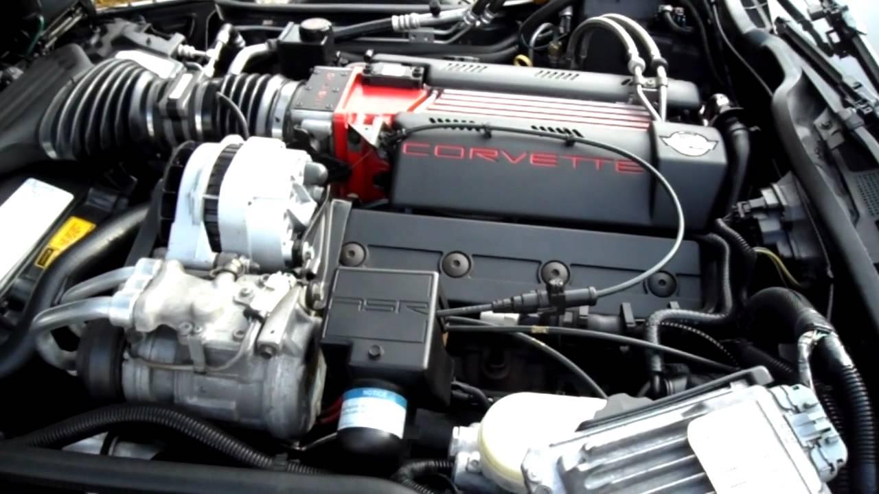 1996 Corvette LT4 engine partment  YouTube