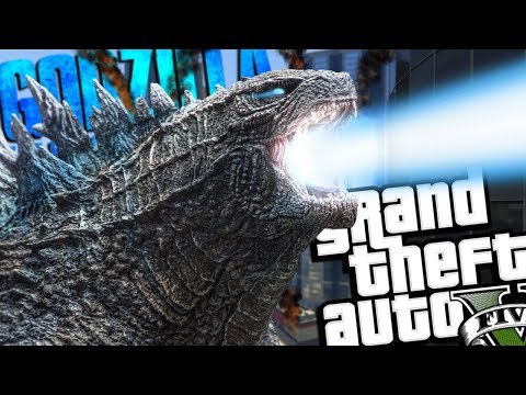 NEW Godzilla: King Of The Monsters MOD (GTA 5 PC Mods Gameplay)