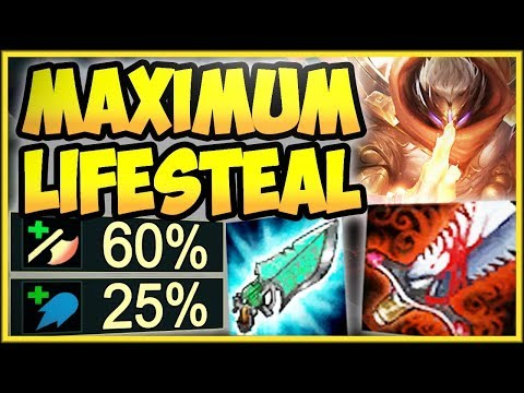 WTF 100% OUTHEAL ALL DAMAGE YOU TAKE WITH MAX LIFESTEAL JAX JAX TOP GAMEPLAY - League of Legends