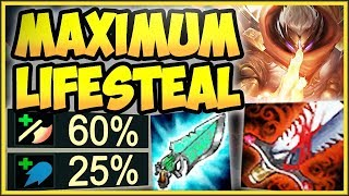 WTF! 100% OUTHEAL ALL DAMAGE YOU TAKE WITH MAX LIFESTEAL JAX! JAX TOP GAMEPLAY! - League of Legends