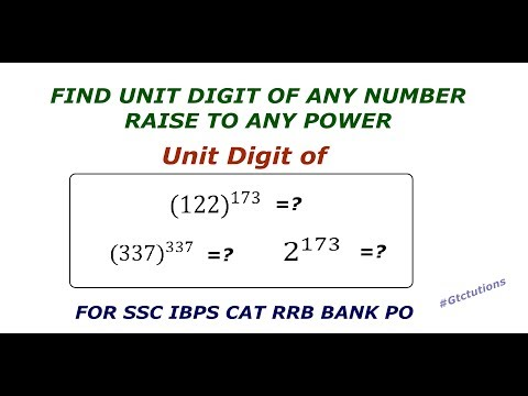 Shortcut To Find Unit Digit Of any Number Raise to Any Power ( SSC IBPS CAT RRB ) #1 Maths Trick