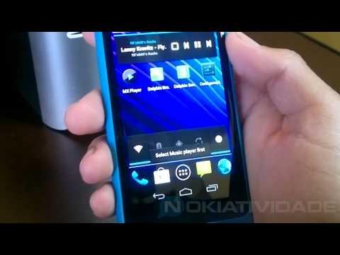 Nokia N9 rodando Android Ice Cream Sandwich (NITDroid)