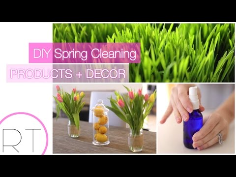 DIY Cleaning Products + Spring Decor Ideas