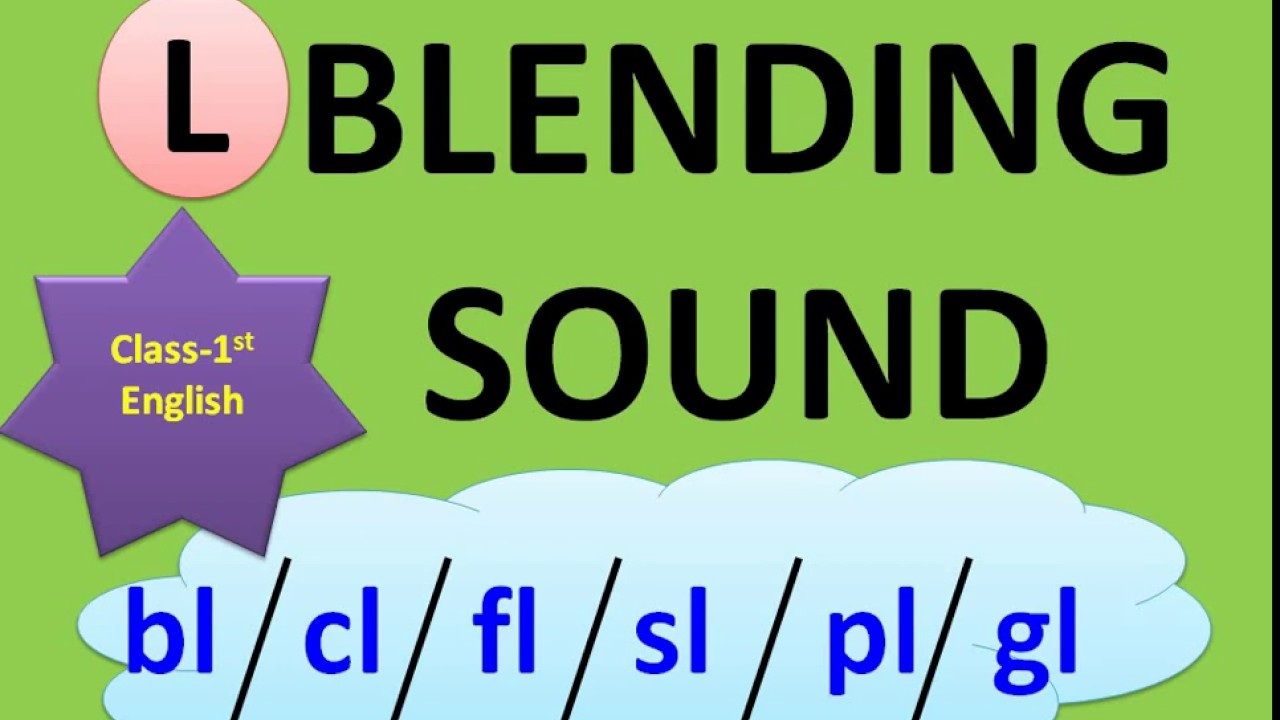 medium resolution of blending sound   blending words  class 1 english worksheet - YouTube