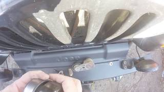replace idler pulley and tension pulley on 2003 Jeep Wrangler