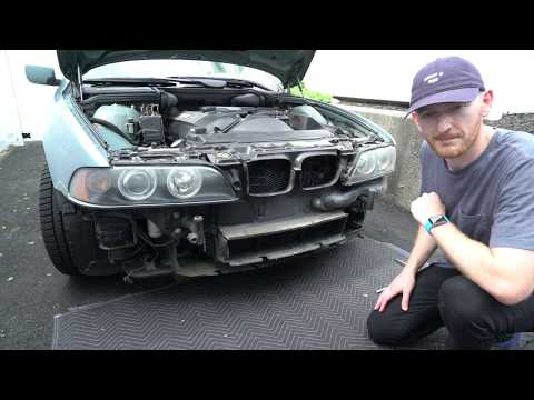 E39 5 Series BMW Auxiliary Aux Electric Fan Removal and Replacement DIY in 4K