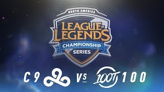 C9 vs. 100 - Week 2 Day 2 | NA LCS Spring Split | Cloud9 vs. 100 Thieves(2018)