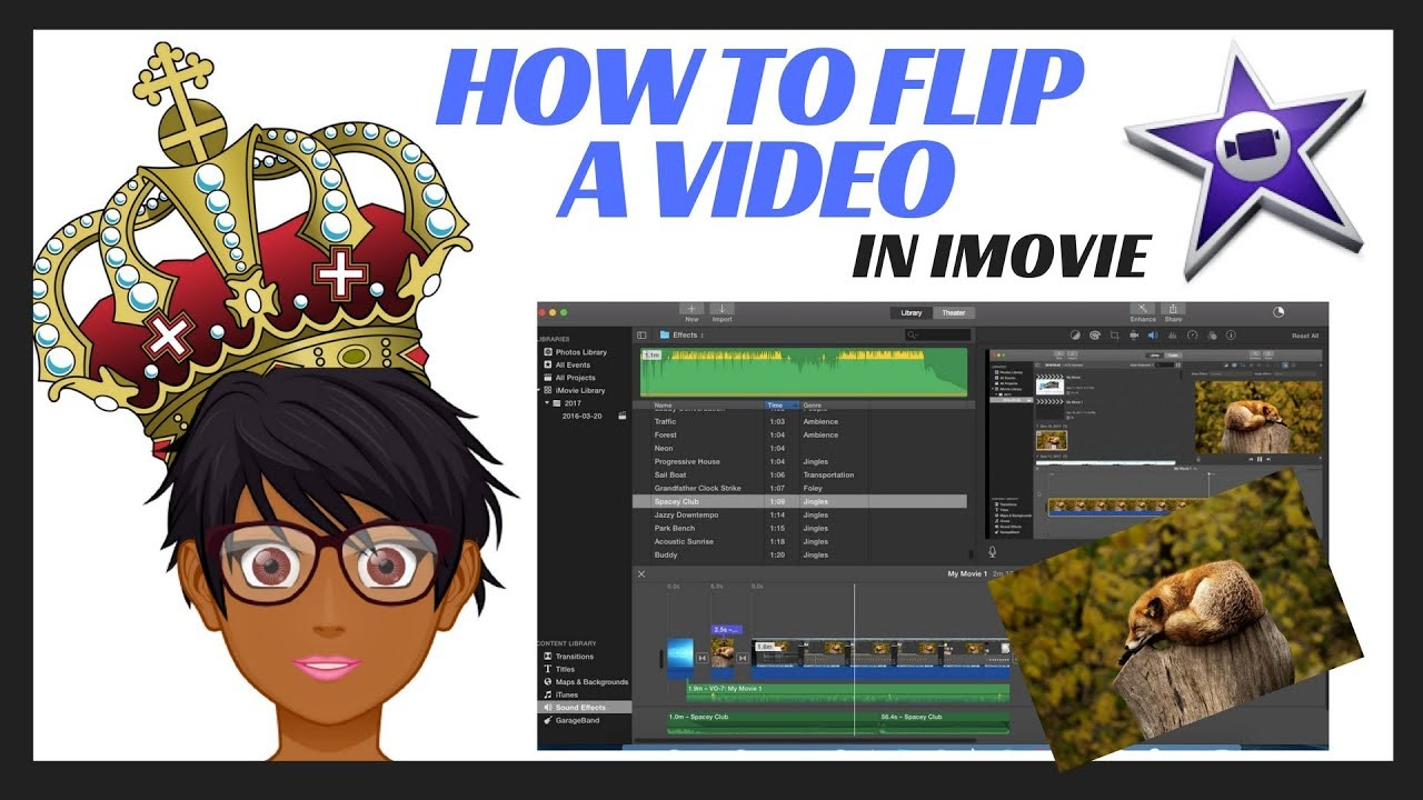 How to flip a video in imovie youtube how to flip a video in imovie ccuart Image collections