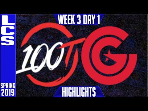 100 vs CG Highlights | LCS Spring 2019 Week 4 Day 1 | 100 Thieves vs Clutch Gaming