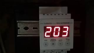 Реле напряжения для дома 8.8 кВт 40А  УКН-40с  программирование и обзор