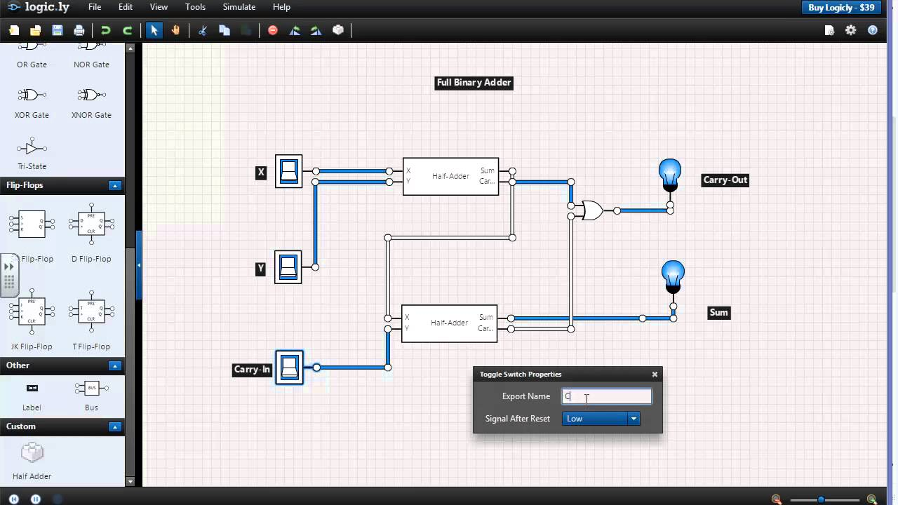 Building A 4-Bit Adder Using Logic Gates