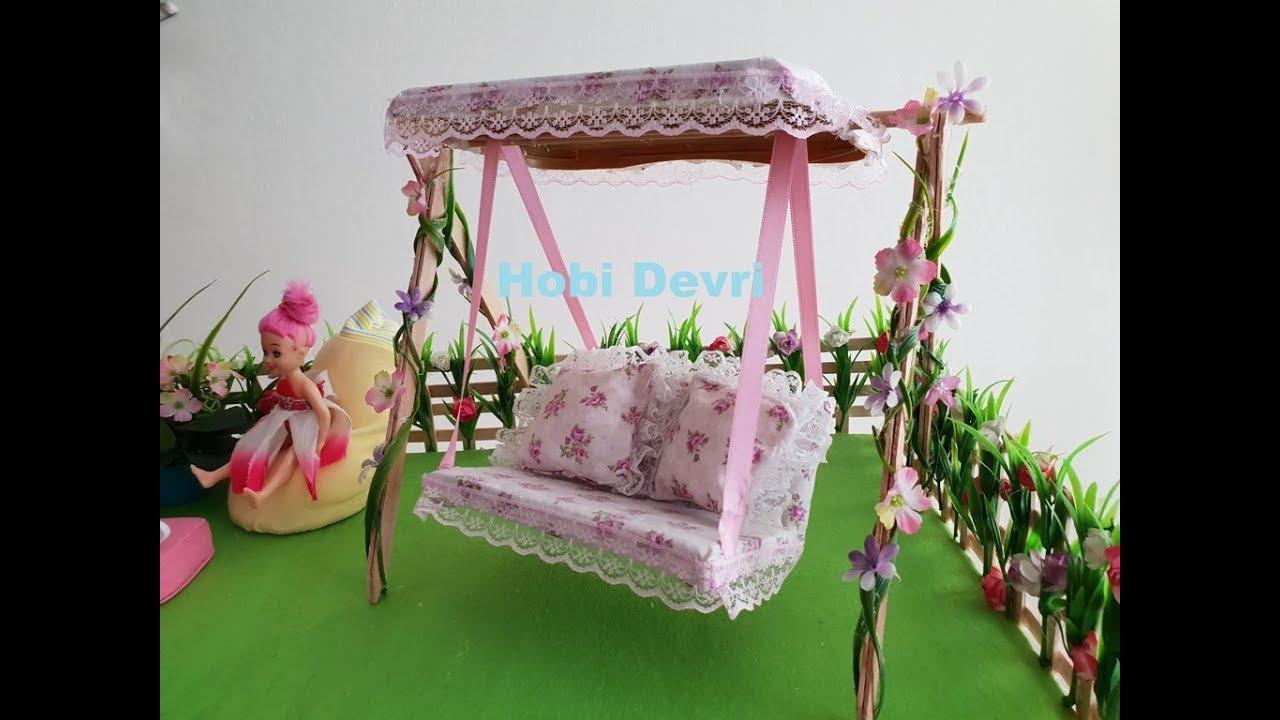 Download DIY, Making Barbie Swing, Dollhouse, Barbie House, Bebek Evi Bahçe Salıncağı Yapılışı