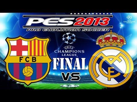 PES 2013 UEFA Champions League FINAL FC Barcelona vs Real Madrid C.F.