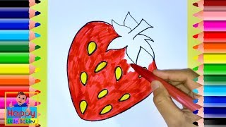 How To Draw A Cute Strawberry | Drawing for Kids | Happy Little Babies !