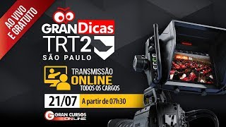 Concurso TRT 2ª Região | Gran Dicas Revisão de Véspera - Transmissão Online - Tarde thumbnail