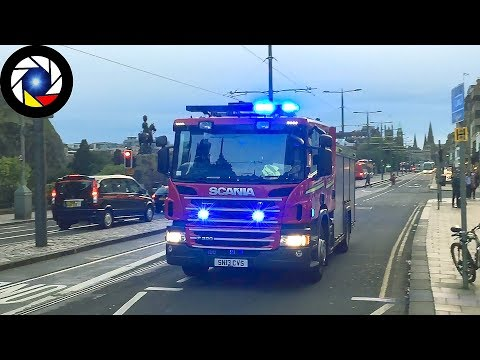 [Edinburgh] Pump of the Scottish Fire and Rescue Service responding