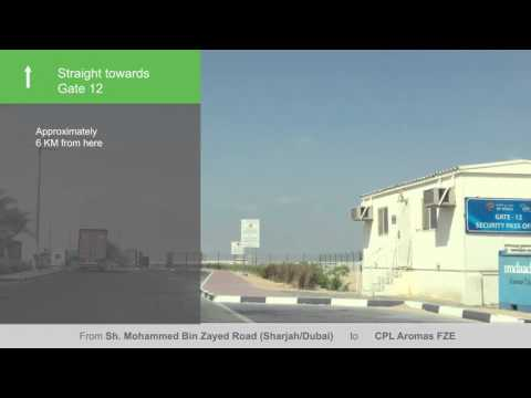 Video directions to CPL Aromas using Sheikh Mohammed Bin Zayed Road
