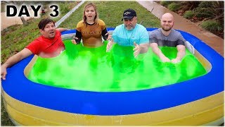LAST To LEAVE The HOT SLIME Pool WINS 00!