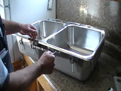 installing a steel queen stainless steel kitchen sink - Fitting Kitchen Sink