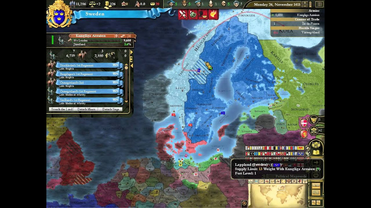 Lets Play Europa Universalis Sweden Ep Swedish War For - Sweden map game