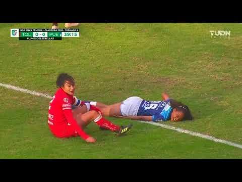 Gol de A. Ortega   Toluca Femenil 1 - 0 Puebla Femenil   Clausura 2020 J6   LigaBBVAMXFemenil