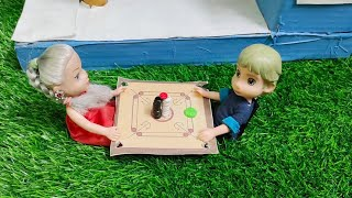 /Barbie playing in carrom board/முள்ளும் மலரும் episode 30/Mini cooking Tamil
